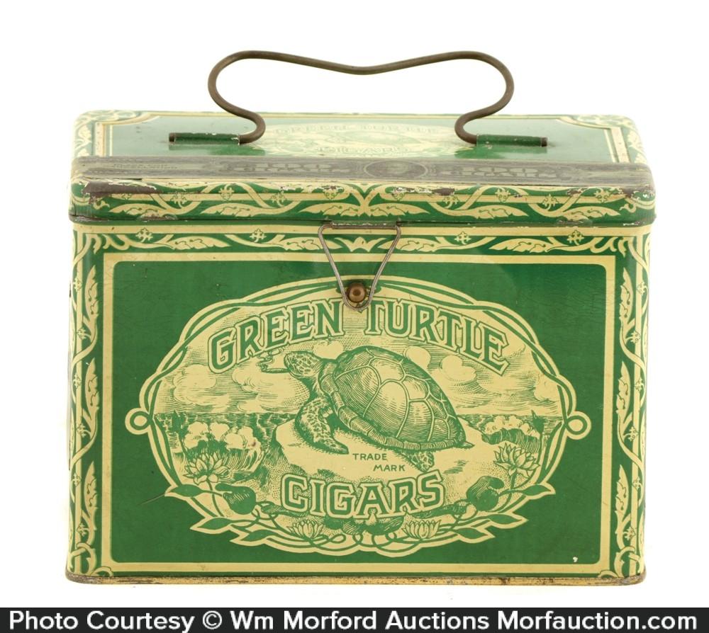 Green Turtle Cigar Tin