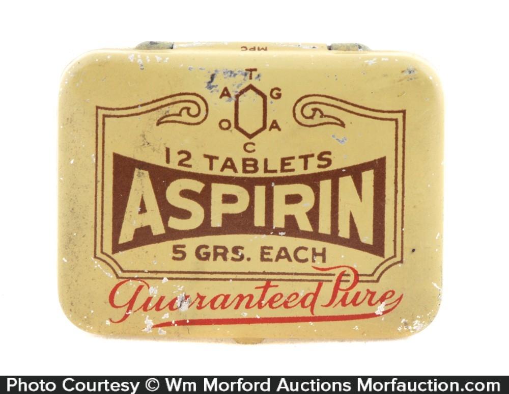 Guaranteed Aspirin Co. Tin
