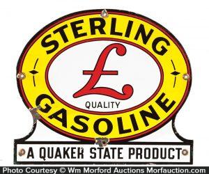 Sterling Gasoline Porcelain Sign