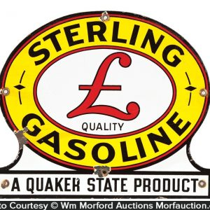 Sterling Gasoline Porcelain Sign