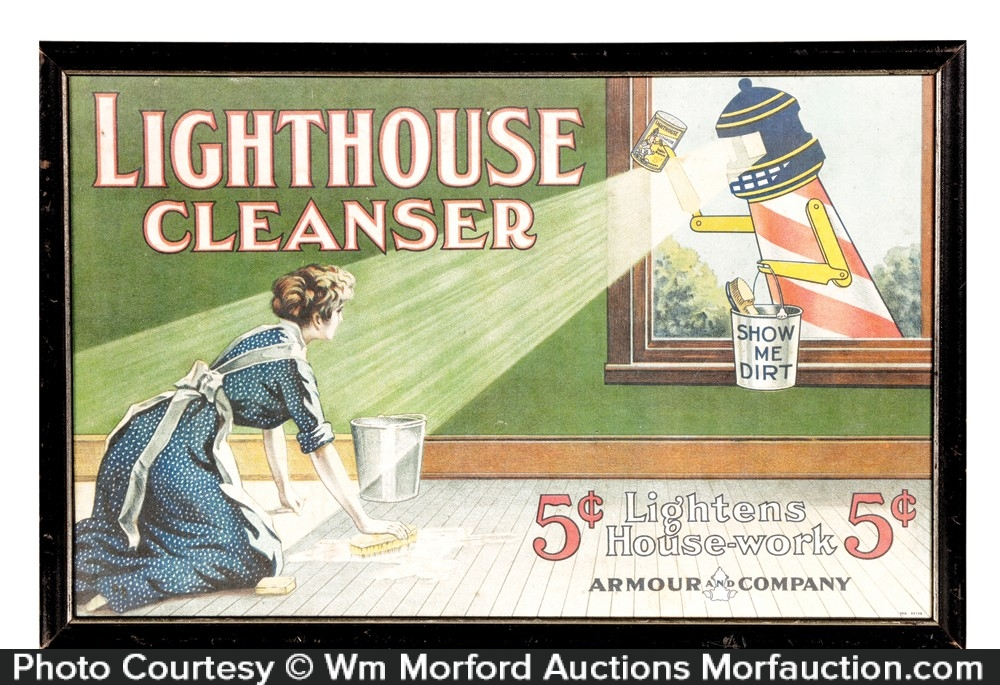 Lighthouse Cleanser Sign