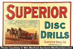 Superior Disc Drills Sign