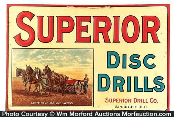 Superior Disc Drills Sign