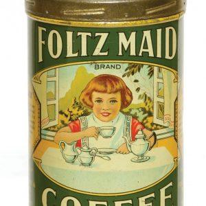 Foltz Maid Coffee Can