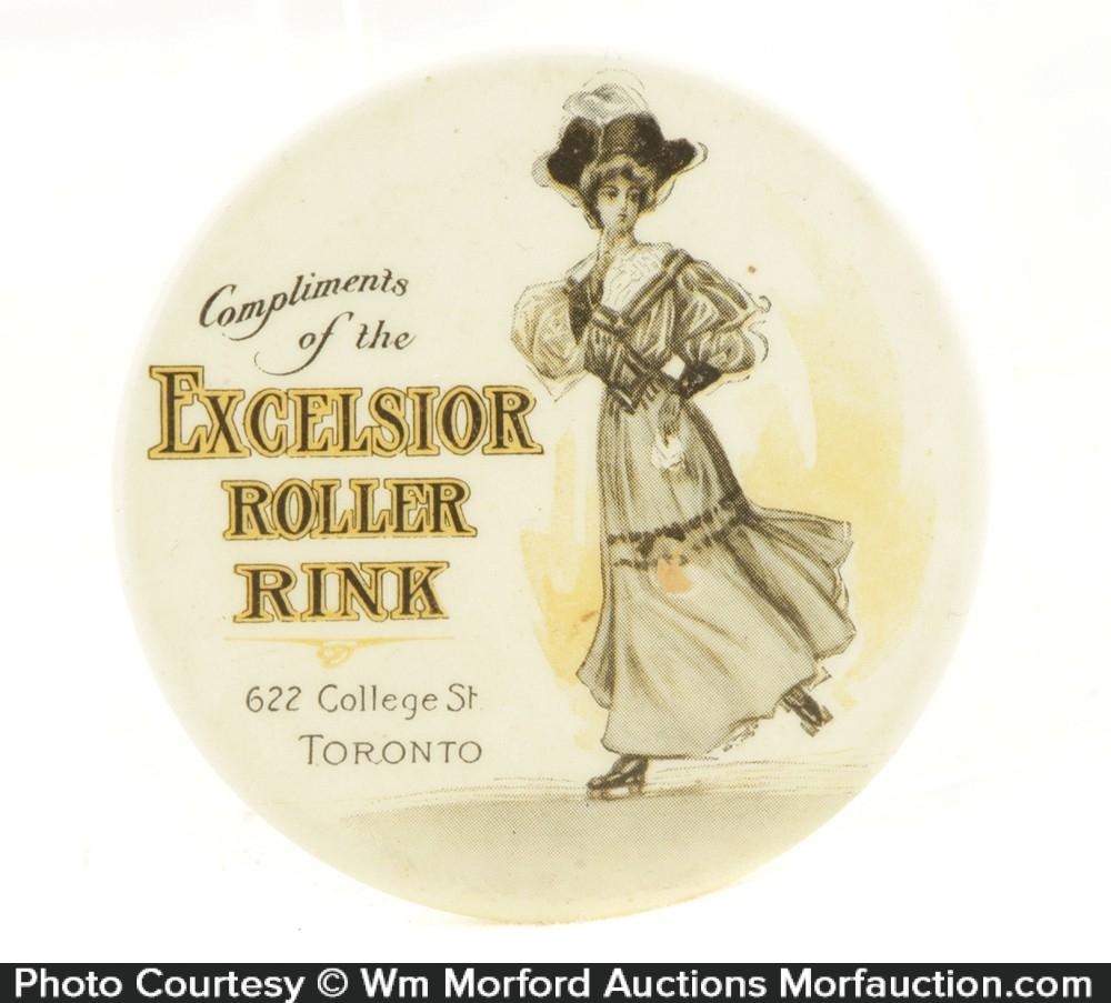 Excelsior Roller Rink Pocket Mirror