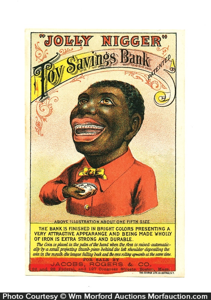 Jolly Nigger Savings Bank Card