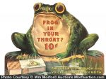 Frog In Your Throat Sign