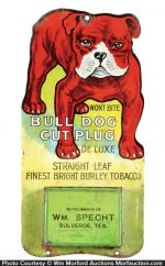 Bull Dog Cut Plug Match Holder