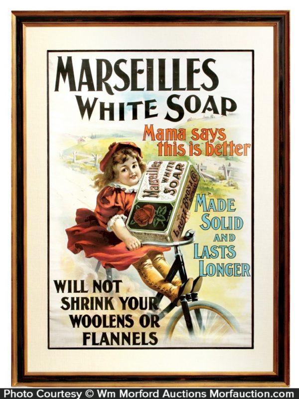 Marseilles White Soap Sign