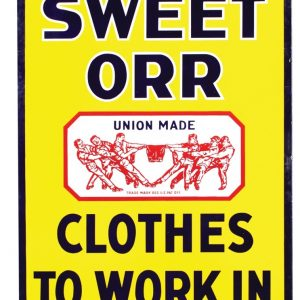 Sweet-Orr Porcelain Sign