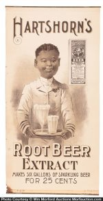 Hartshorn's Root Beer Extract Sign