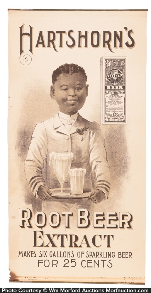 Hartshorn's Root Beer Extract Sign