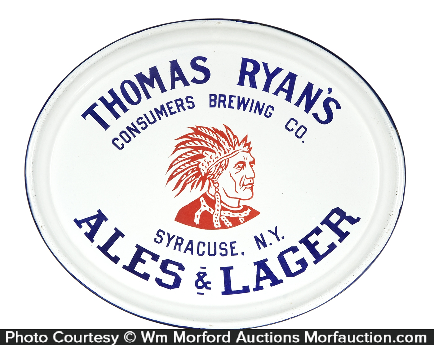 Thomas Ryan's Porcelain Beer Tray