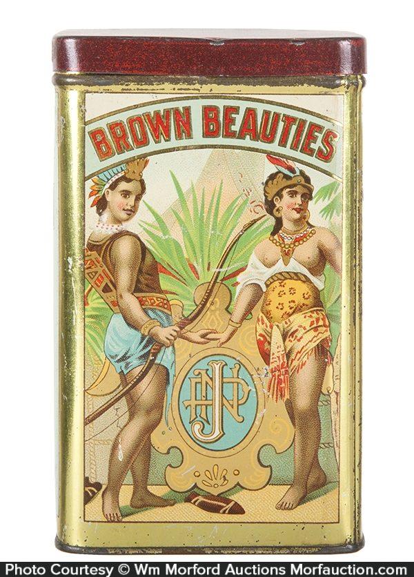 Brown Beauties Cigar Can