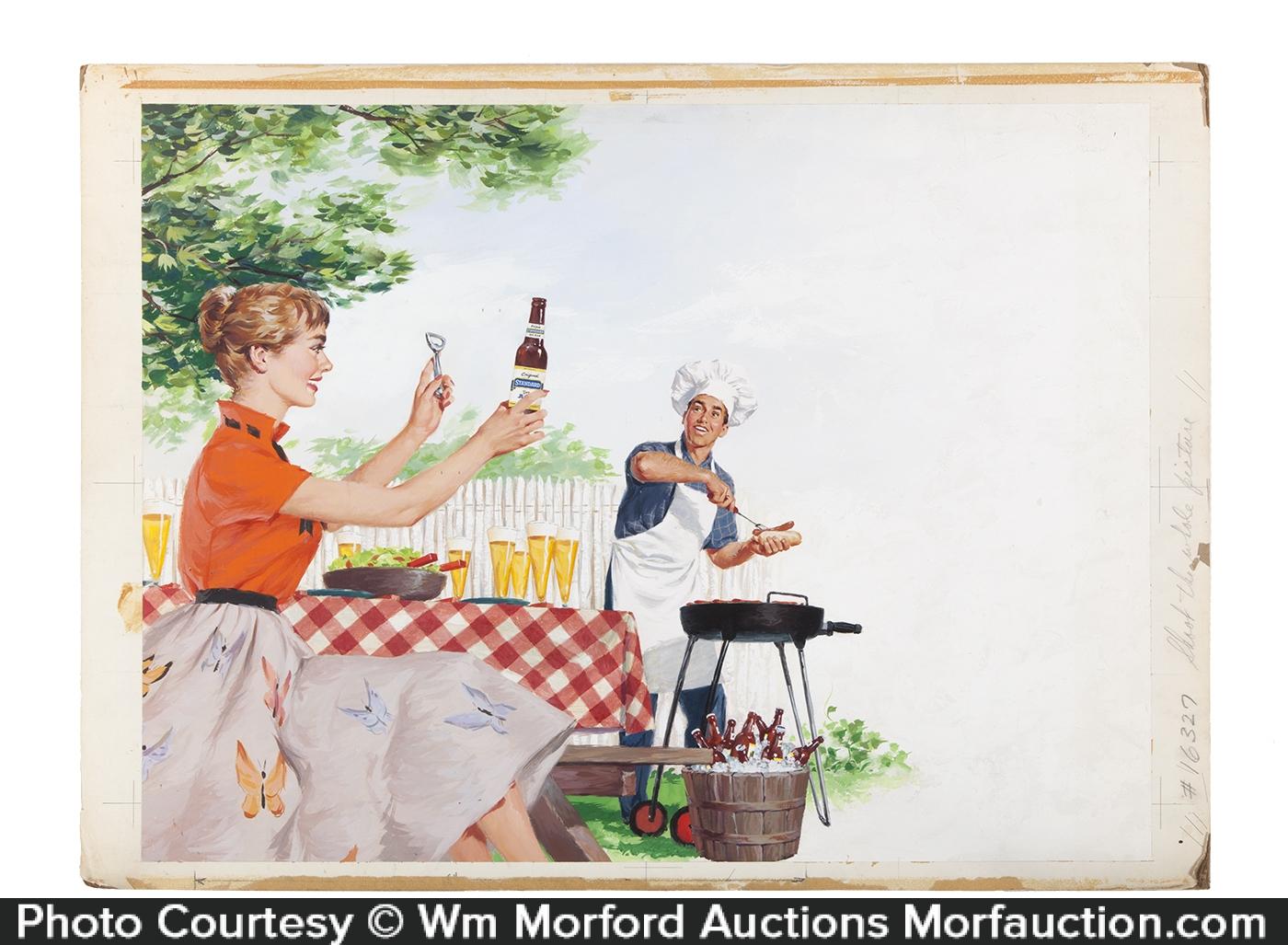 Standard Brewing Co. Barbeque Original Artwork