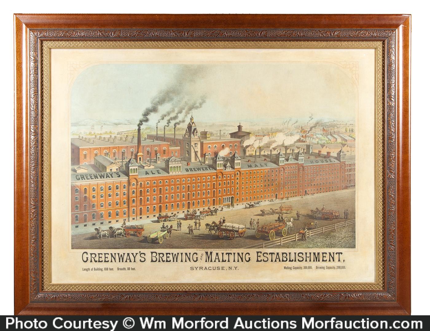 Greenway's Brewing Establishment Sign