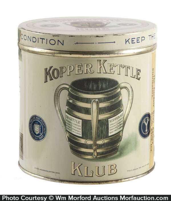 Kopper Kettle Klub Cigar Can