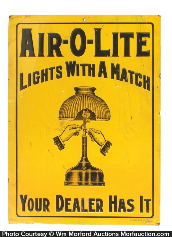 Air-O-Lite Match Lamps Sign