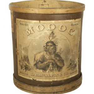 Modoc Tobacco Wooden Bin