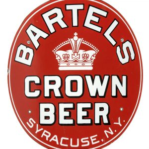 Bartel's Porcelain Crown Beer Sign