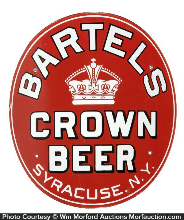Bartel's Porcelain Crown Beer Sign