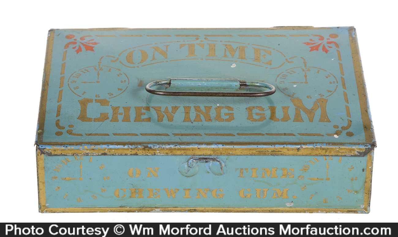 On Time Chewing Gum Tin