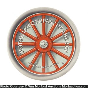 Motor List Company Paperweight Mirror