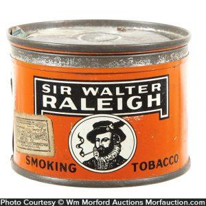 Miniature Sir Walter Raleigh Tobacco Tin