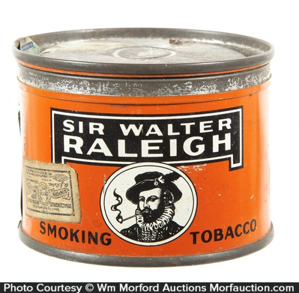 Miniature Sir Walter Raleigh Tobacco Tin