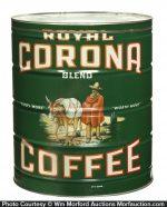 Royal Corona Coffee Tin