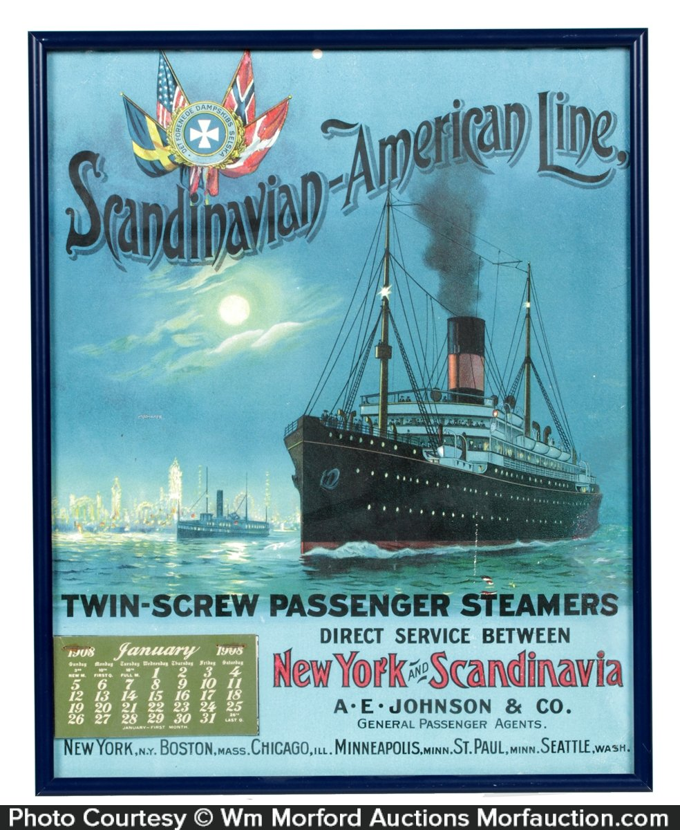 Scandinavian-American Line Calendar