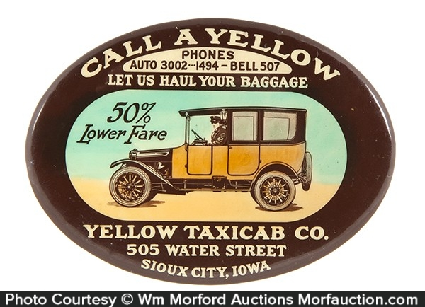 Yellow Cab Pocket Mirror