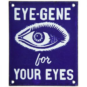 Eye-Gene Door Push Sign