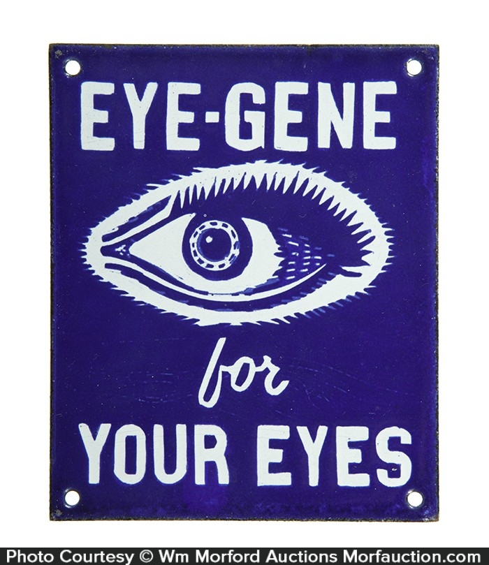 Eye-Gene Door Push Sign