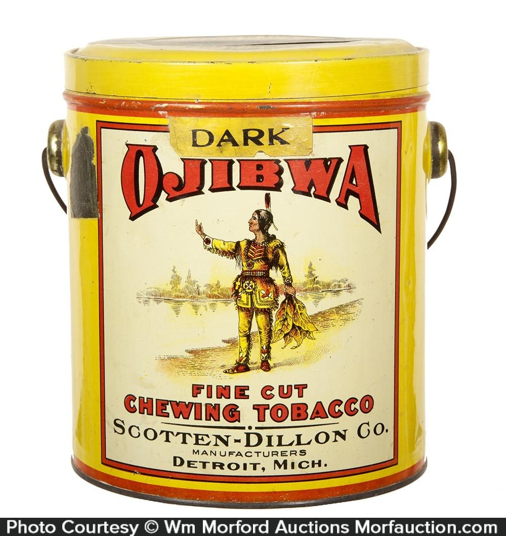 Dark Ojibwa Tobacco Pail