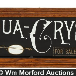 Aqua Crystal Glasses Sign