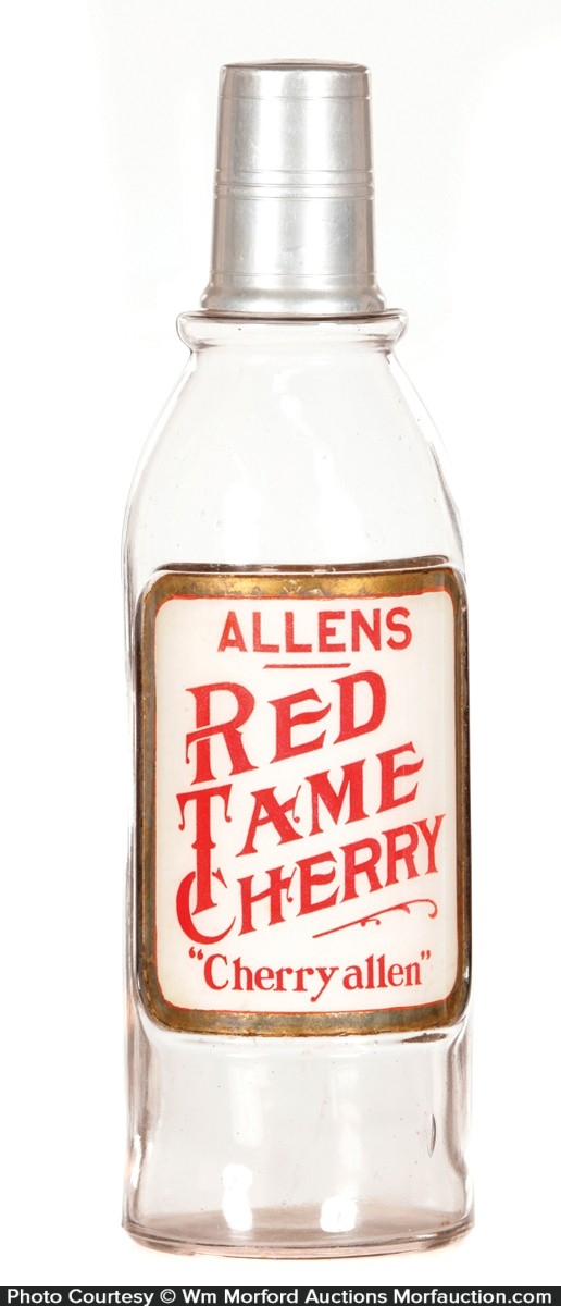 Allens Red Tame Cherry Syrup Bottle