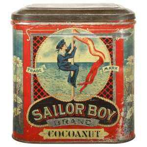 Sailor Boy Cocoanut Tin