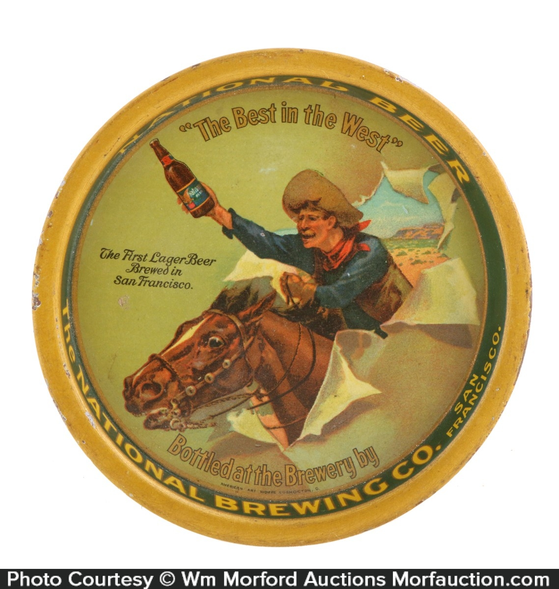National Brewing Co. Tip Tray