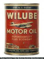 Wilube Motor Oil Can
