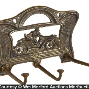 Art Nouveau Auto Theme Hat Rack