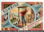 Sunrise Chewing Tobacco Crate Label