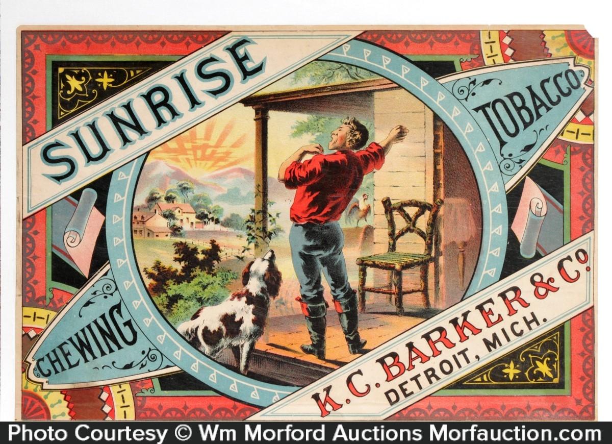 Sunrise Chewing Tobacco Crate Label
