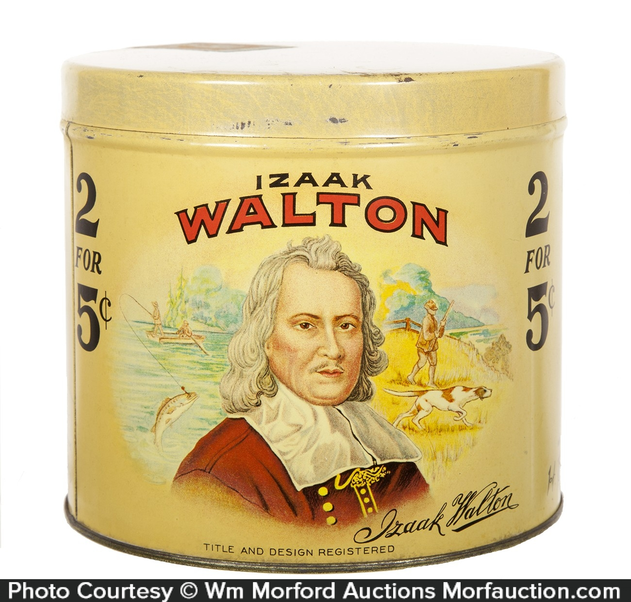 Izaak Walton Cigar Can