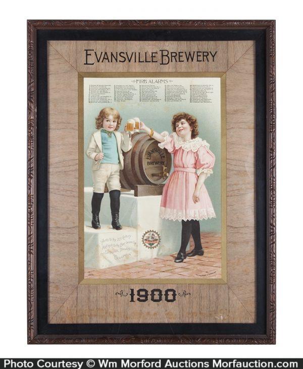 Evansville Brewery Sign
