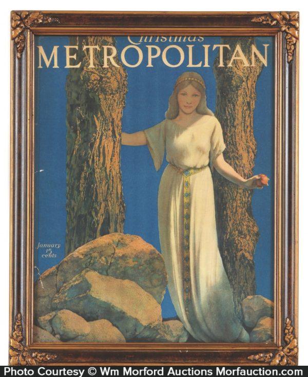 Metropolitan Girl w/ Apple Parrish Illustration