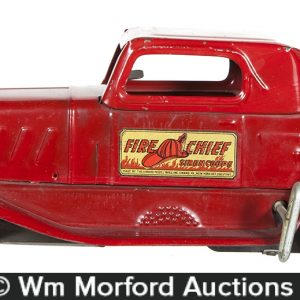 Fire Chief Steel Car Toy