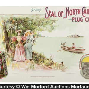 Seal Of North Carolina Tobacco Sign