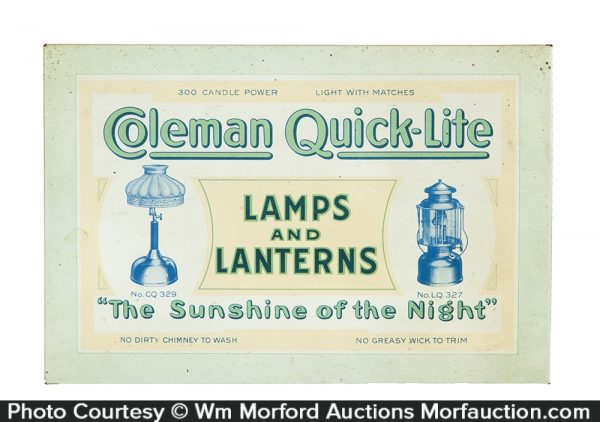 Coleman Lamps And Lanterns Sign