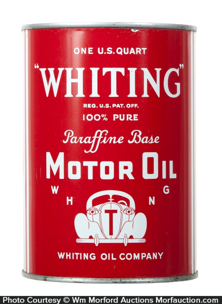 Whiting Motor Oil Can